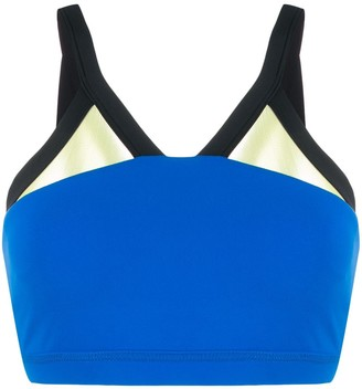 Perfect Moment Mesh-Trimmed Sports Bra