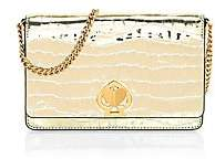 Kate Spade Women's Romy Croc-Embossed Metallic Leather Wallet-On-Chain
