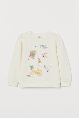 H&M Puff-sleeved sweatshirt