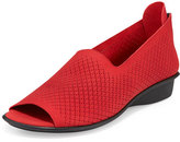 Sesto Meucci Eadan Open-Toe Laser-Cut Flat, Red