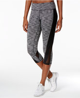 Ideology Spaced-Dyed Mesh Cropped Leggings, Only at Macy's