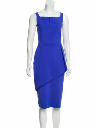 Chiara Boni Sleeveless Midi Dress Blue