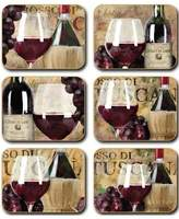 Cinnamon Old World Wine Coasters set of six
