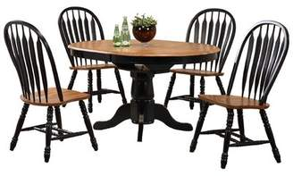 Beachcrest Home Florentia Extendable Solid Wood Dining Table