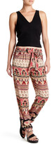 Angie Printed Tapered Leg Pant