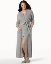 Soma Intimates Long Cashmere Robe Heather Grey