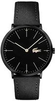 Lacoste Mens Moon Ultra Slim Black Textile Strap