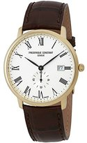 Frederique Constant Men's 40mm Brown Leather Band Steel Case Quartz Dial Analog Watch FC-245WR5S5