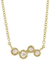 Yasuko Azuma Four Diamond Cluster Necklace