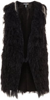 Apart Plus Size Fluffy knit gilet