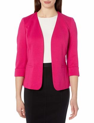 Kasper Women's Ponte Fly Away ROLL Sleeve Jacket with Pockets