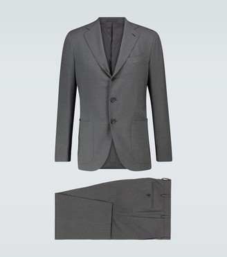 Caruso Aida slim-fit wool suit