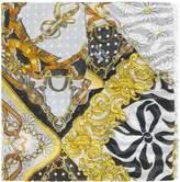Moschino horsebit daisy-print scarf