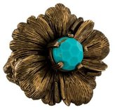 Stephen Dweck Turquoise & Bronze Flower Ring