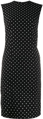 Haider Ackermann Polka Dot Silk Shift Dress