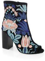 Rebecca Minkoff Billie Floral Embroidered Leather Sandals