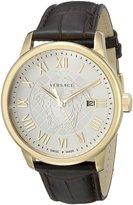 Versace Men's VQS030015 Business Analog Display Quartz Brown Watch