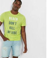 Express neon beach don't kill my vibe graphic t-shirt