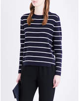 Whistles Striped cotton-blend knitted jumper