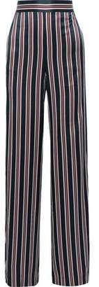 CAMI NYC Miles Striped Silk-satin Wide-leg Pants