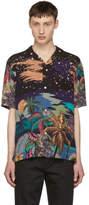 Paul Smith Black Hawaiian Print Shirt