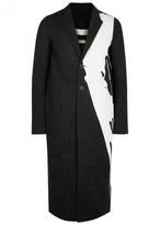 Rick Owens Black Paint Splash Denim Coat