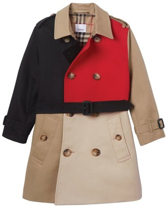 Burberry Kids Colour-Block Trench Coat (3-12 Years)