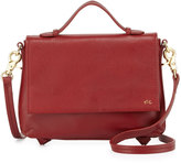Foley + Corinna Gigi Leather Flap Crossbody Bag, Rouge