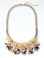Banana Republic Tortoise Petal Statement Necklace