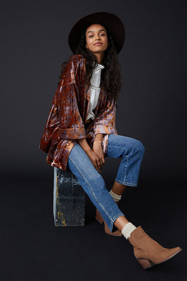 Anthropologie Esme Velvet Kimono Jacket By in Brown Size XS