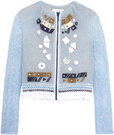 Peter Pilotto Solar appliquéd corded lace jacket
