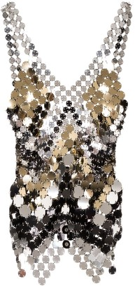 Paco Rabanne Metallic Disc Chain Top