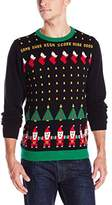 Alex Stevens Men's Santa Invaders Ugly Christmas Sweater