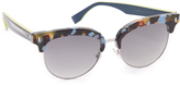 Fendi Color Block Sixteen Sunglasses