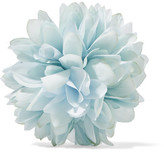Gucci Floral Silk And Cotton-blend Brooch - Sky blue