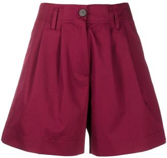 Forte Forte High-Waisted Pleated Shorts