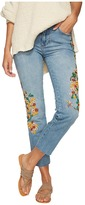 Free People Embroidered Girlfriend Jeans Women's Jeans