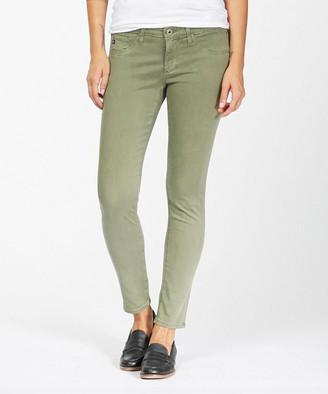 AG Jeans Women's Denim Pants and Jeans SULFUR - Harvest Olive Skinny Jeans - Women