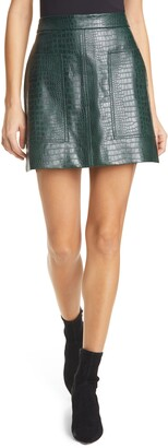 Ted Baker Oswine Faux Leather Miniskirt