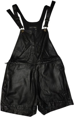 Rag & Bone Black Leather Shorts for Women