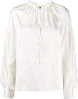 Thumbnail for your product : Maison Rabih Kayrouz Lace-Up Long-Sleeve Blouse