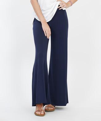 Lydiane Women's Casual Pants NAVY - Navy Palazzo Pants - Women