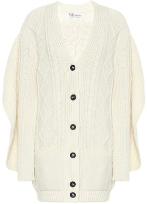 RED Valentino Wool-blend Aran cardigan