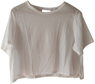 LnA White Cotton Top for Women