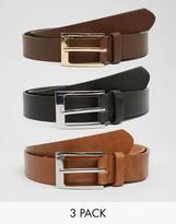 Asos Smart Belt 3 Pack