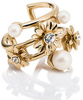 Kate Spade Dazzling daisies stacked ring