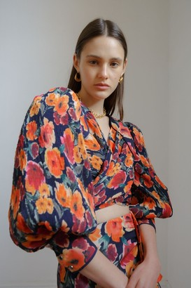 C/Meo NIGHTSPOT TOP Ink Floral