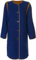 Etro reversible collarless coat - women - Wool - 40