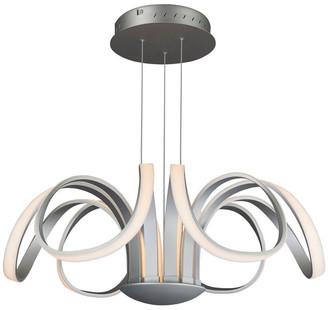 Vonn Capella Flower Petal LED Chandelier, Silver