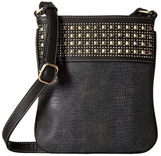 M&F Western Avril Crossbody Bag (Grey) Cross Body Handbags